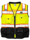 ML Kishigo Black Series Surveyors Vest, Lime, #S5002