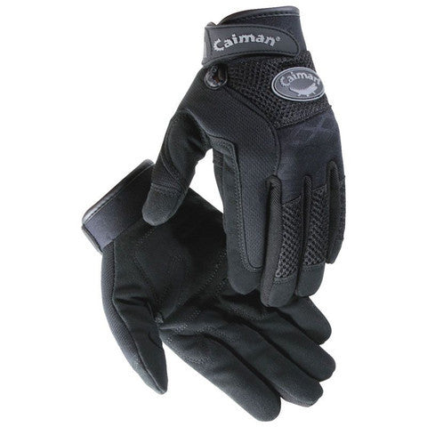 Caiman Black Rhino-Tex Synthetic Leather Glove #2948