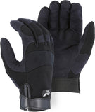 Majestic Armorskin Synthetic Leather Gloves, Black #2137BK