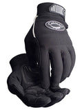 Caiman Black Leather Synthetic Gloves #1932