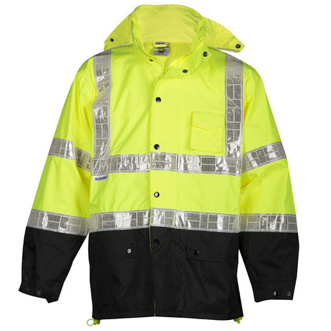 ML Kishigo Storm Stopper Pro Rainwear Jacket, Lime  #RWJ100