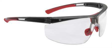 North Adaptec Eyewear Wide Black/Red Frame, Clear Lens #T5900WTK