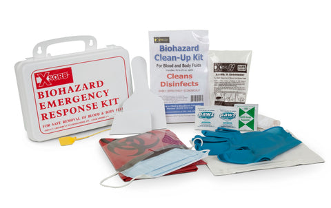 Impact Absorbents XSORB Compact Wall-Mountable Biohazard Absorbent Response Case w/ 1 Kit, CASE OF 2 CASES #BK607-2