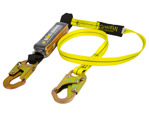 Guardian Fall Protection 6-Feet Single Leg Big Boss Lanyard with High Strength Snap Hook on Each End #21300