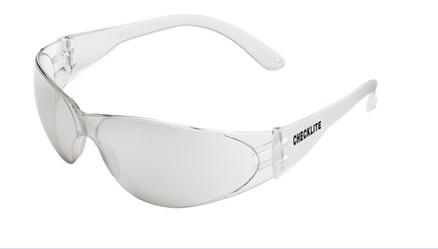 MCR Checklite CL1 Safety Glasses with I/O Clear Mirror Lens Excellent Orbital Seal #CL119