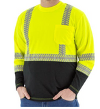 Majestic High Visibility Long Sleeve Shirt With Reflective Chainsaw Striping Ansi 2 #75-5257
