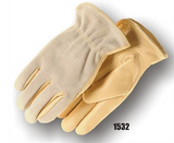 Majestic Drivers Gloves, Grain Cowhide Leather Palm, Split Back, Kevlar Sewn, Keystone Thumb  #1532-L