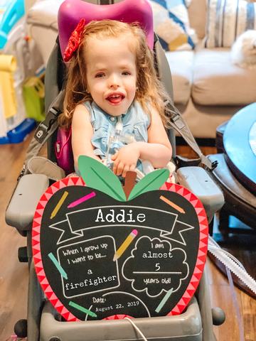 Addie Wolfe growing by leaps & bounds - defying all odds! via The Vintage Modern Wife