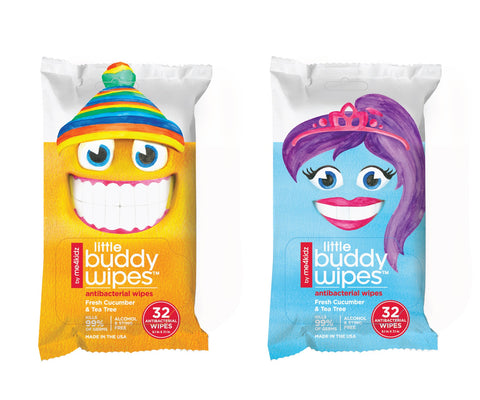 (Case of 12) Little Buddy Antibacterial Wipes- Case discounted (includes 384 wipes)