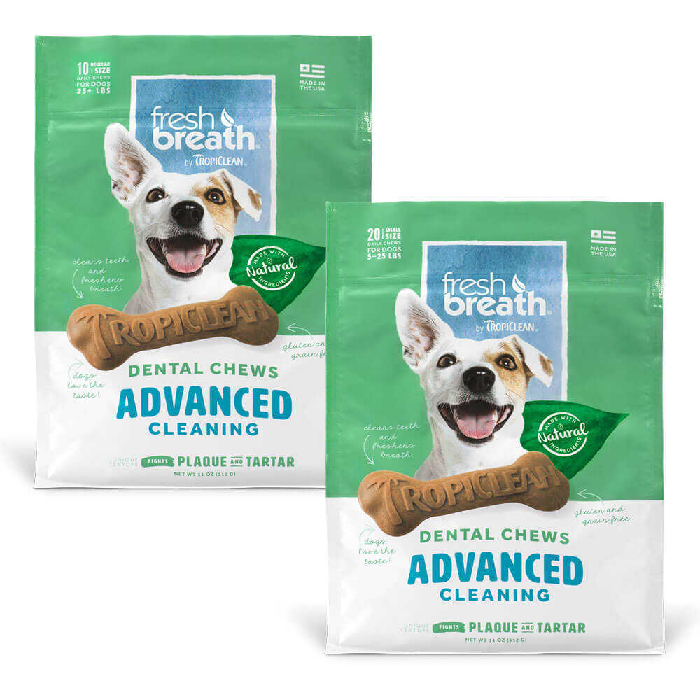 Fresh Breath by TropiClean Advanced Cleaning Dental Chews