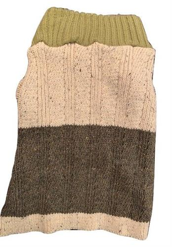 Canine Brands Color Block Sweater-Olive/Brown