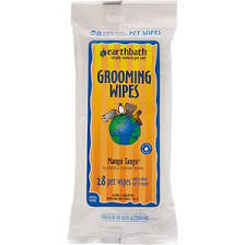 Earthbath Mango Tango Grooming Wipes, 28 count