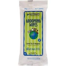 Earthbath Green Tea & Awapuhi Grooming Wipes, 28 count