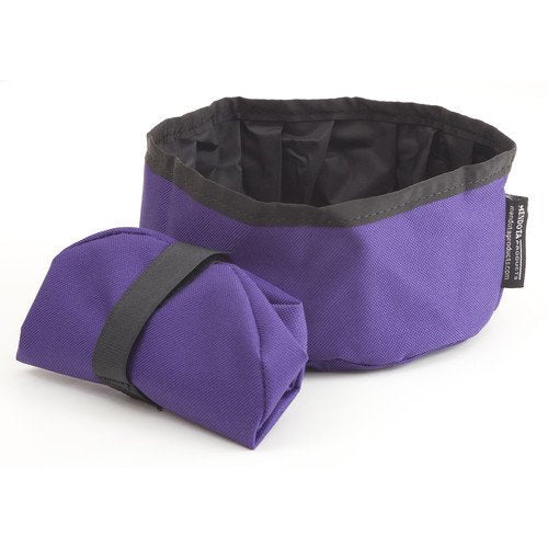 Mendota Collapsible Dog Bowl Purple