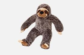 Fluff & Tuff Sonny Sloth Squeaky Toy