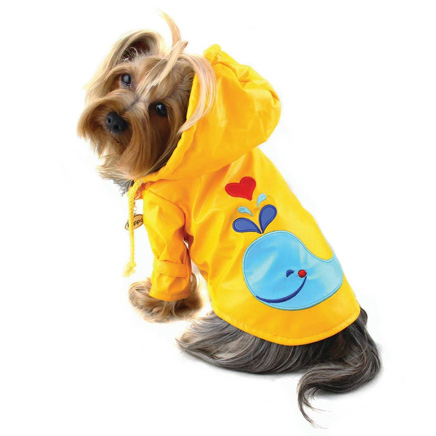 Splashing Whale Raincoat With Cotton Lining