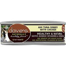 Dave's Naturally Healthy Fisherman's Stew Ahi Tuna Dinner with Chicken Cat Food, 5.5 oz