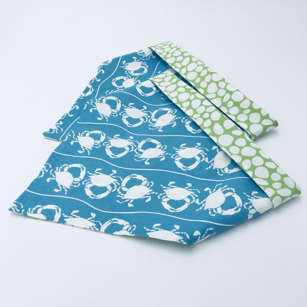 Chloe and Max Blue Crab Bandana; without Bow