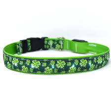 Yellow Dog Designs Collar, Four Leaf Clover