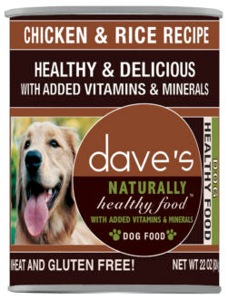 Dave's Naturally Healthy Chicken & Rice Canned Dog Food, 22 oz