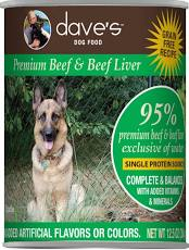 Dave's Canned Dog Food, 95% Beef & Beef Liver, 13 oz