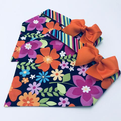 Chloe and Max Flower Power Bandana; with bow