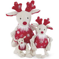 Hugglehounds Holiday Reindeer Knottie, Large