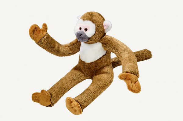 Fluff & Tuff Albert the Squirrel Monkey Squeaky Toy
