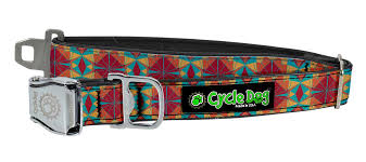 Cycle Dog Collar Kaleidoscope Red/Orange