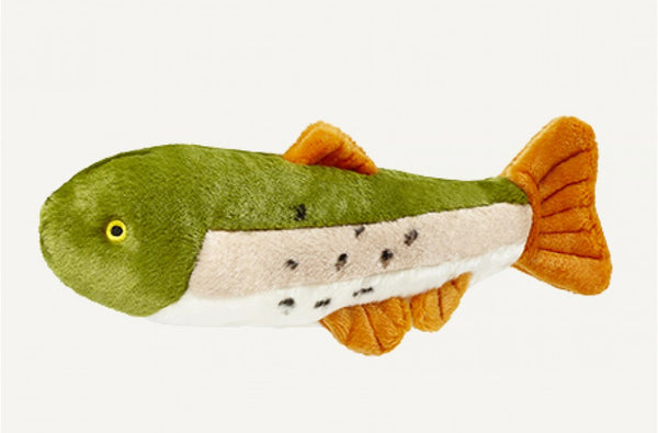 Fluff & Tuff Ruby the Rainbow Trout Squeaky Toy