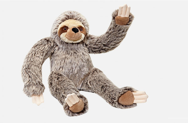 Fluff & Tuff Tico Sloth Squeaky Toy