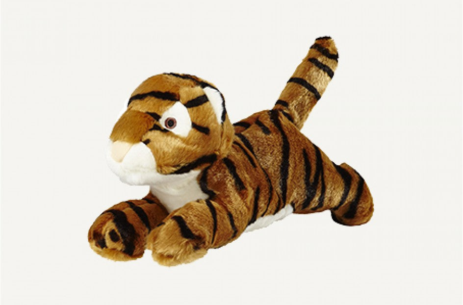 Fluff & Tuff Boomer Tiger Squeaky Toy