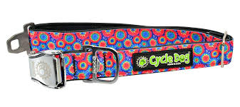 Cycle Dog Collar Kaleidoscope Tie Dye