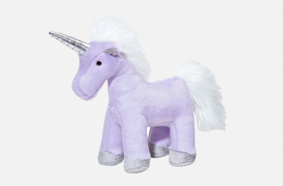 Fluff & Tuff Violet Unicorn Squeaky Toy