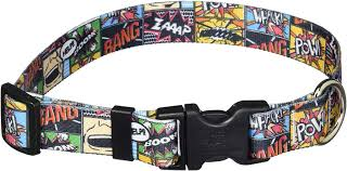 Yellow Dog Designs Collar, Vintage Comic