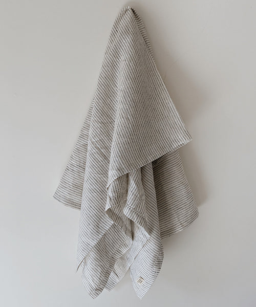 Oversized Luxury Linen Beach Towel | Stripe |
