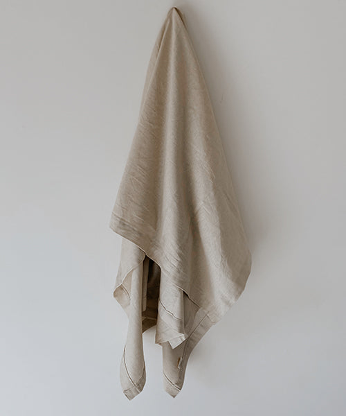 Oversized Luxury Linen Beach Towel | Stone |