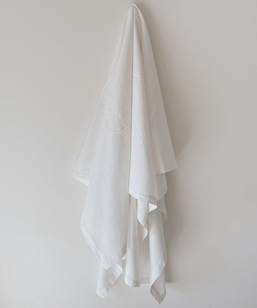 Oversized Luxury Linen Beach Towel | White |