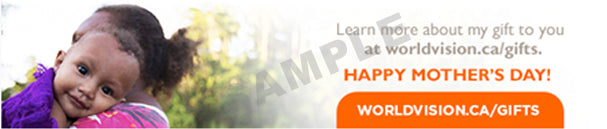 Learn more about the World Vision Gift Catalogue