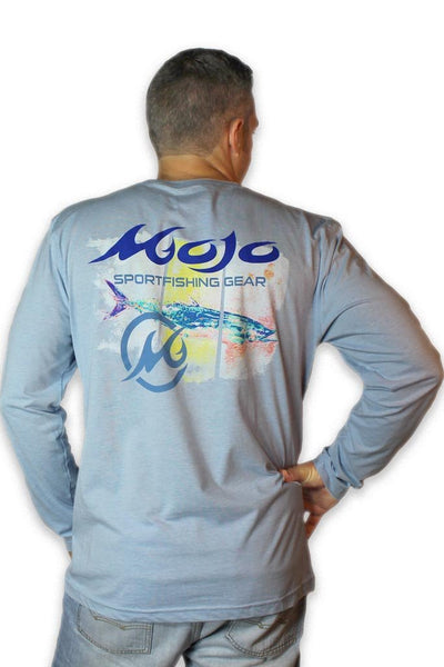 Long Sleeve Long Live The King Performance Fishing T-Shirt - Mojo Sportswear Company