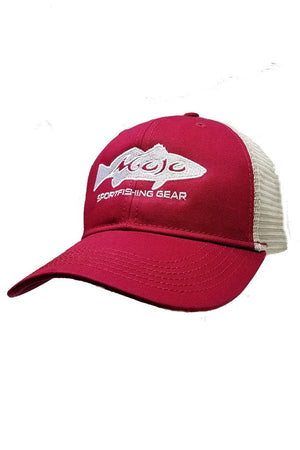 Embroidered Redfish Snapback - Mojo Sportswear Company