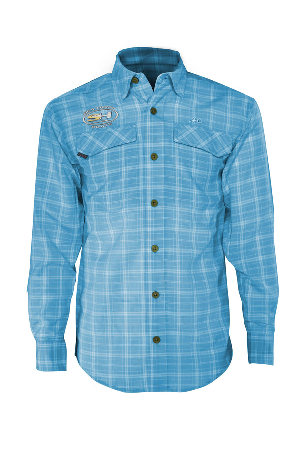 Sea Hunt Coastal Plaid Long Sleeve - Mojo Sportswear Company