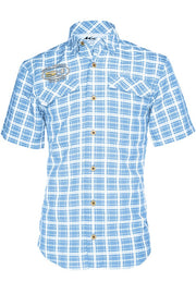Sea Hunt Coastal Plaid Short Sleeve - Mojo Sportswear Company