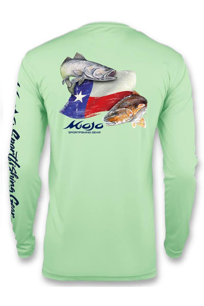 Performance Fish Texas Flag Redfish/Trout - Mojo Sportswear Company