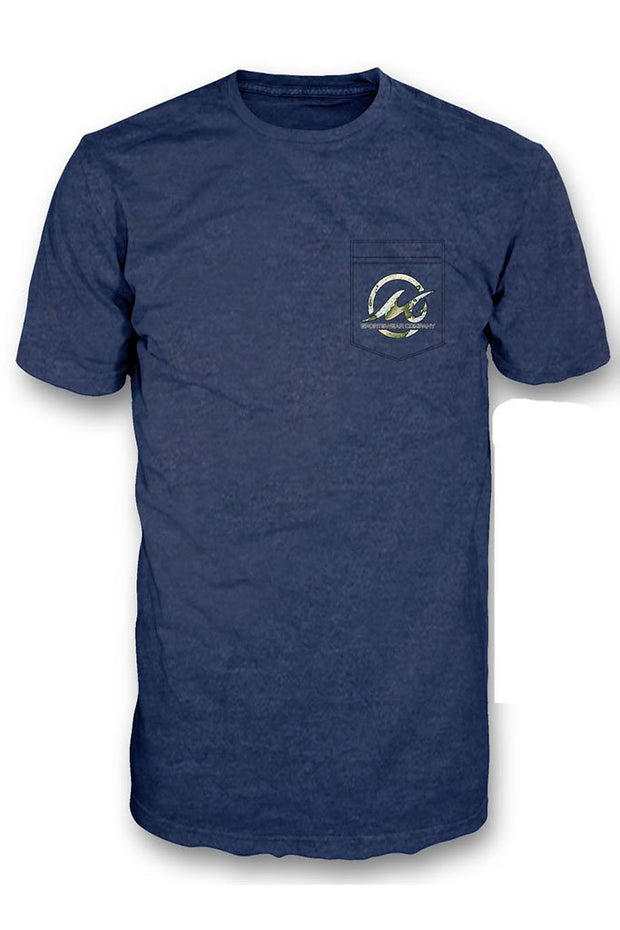 Striper Sea Chart Short Sleeve Pocket Tee - Mojo Sportswear Company