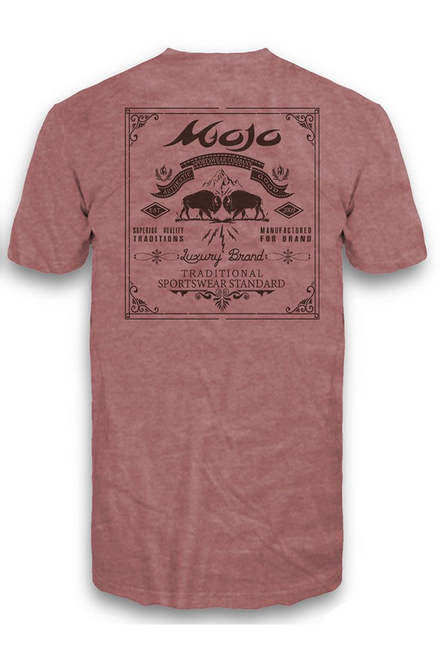 Buffalo Stamp Short Sleeve Pocket Tee - Mojo Sportswear Company