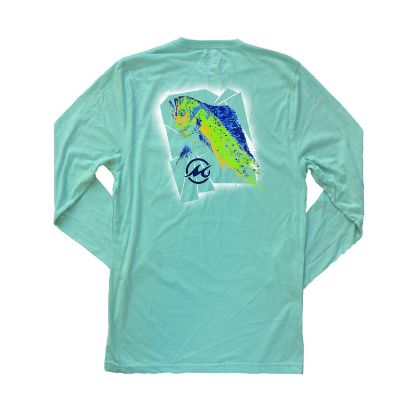 Long Sleeve Mahi Head Mens Fishing Shirt