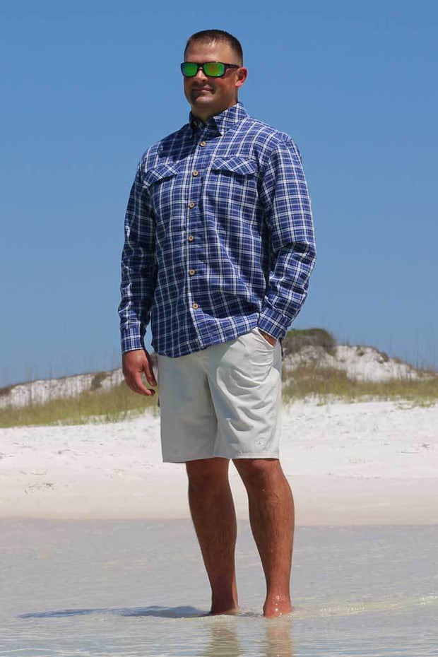 Coastal Plaid Long Sleeve - Mojo Sportswear Company