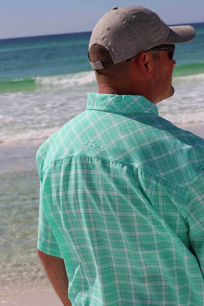 Coastal Plaid Short Sleeve - Mojo Sportswear Company