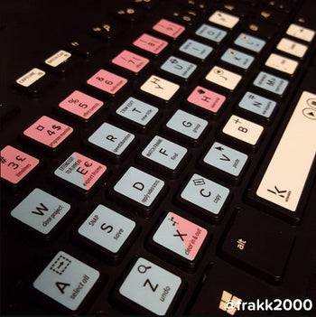 Adobe Premiere Pro editing keyboard stickers